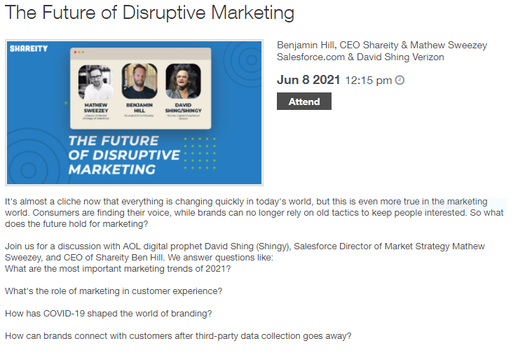 The Future of Disruptive Marketing